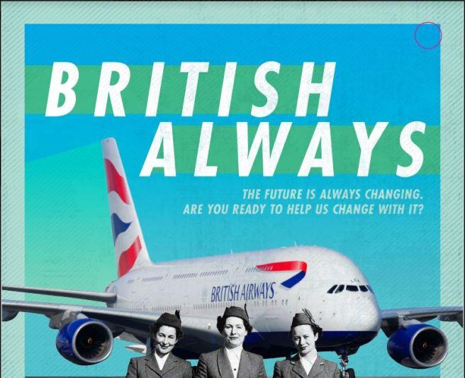 British Airways poster. Text reads: British Always.