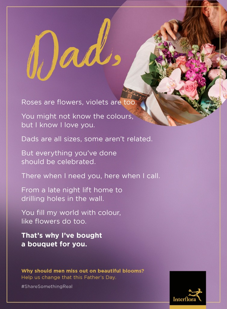 Father's day poem for Interflora.